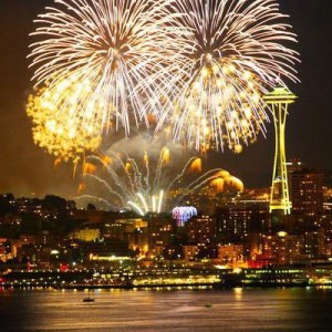 Seattle New Year's Fireworks